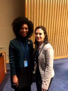 Dr. Emem Omokaro with Ms. Amal About Rafeh . Chief of Ageing Unit. UN